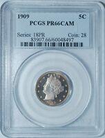 1909 PCGS PR66CAM Cameo Proof Liberty V Nickel