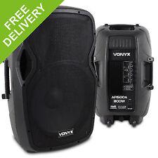 "Pair Active Powered 15"" Inch DJ Disco PA Speaker System|vonyx Ap1500a |1600w Max"
