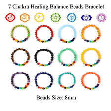 7 Chakra Bracelet Healing Beaded Bracelet Natural Lava Stone Diffuser Yoga Charm