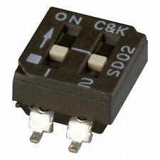 Campk Sd02h0sk Slide Dip Switch Spst Sealed 2 Pos Smd New Qty5