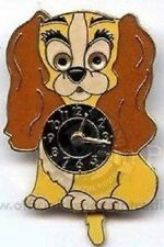Disney Lady & the Tramp Retro Vintage Lady Clock Limited Edition 2500 pin