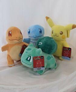 2020 Shiny Pokemon Select Plush Set! Pikachu, Squirtle, Bulbasaur, Charmander!