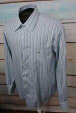 AUTHENTIC LACOSTE BUTTON-FRONT SHIRT SIZE 45 multi color stripes
