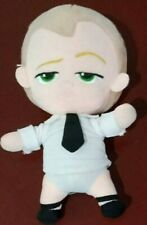 Boss Baby Plush Toy White Suit Outfit Dreamworks Character Toy 22cm Tall