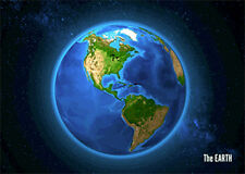 3d Postcard Animated Earth - North and South America -