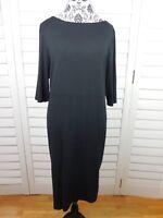 NEW J Jill Wearever Collection Sheath Dress Womens Large Black Pullover $89