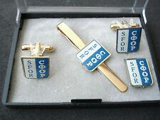 SFOR set - tie bar, cufflinks, badge; Yugoslavia, Bosnia, NATO