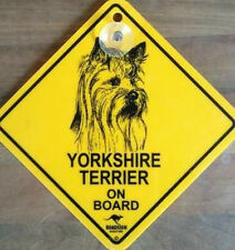 12cm Roadsign Schild mit Saugnapf YORKSHIRE TERRIER Warnschild Hund