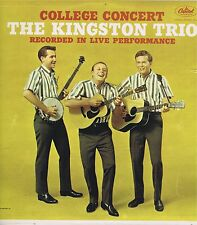 "THE KINGSTON TRIO ""College Concert"" Vinyl 33 LP Folk  Music Album VG+ Mono 1962"
