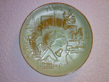 Wandteller Wall Plate FRANKOMA Pottery TEXAS The Lone Star State *  Dia 21,5 cm