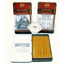 Koh I NOOR tin set 12 crayons graphique medium artistes graphite croquis 5B - 5 nonies