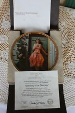 Knowles Plate - Rockwell's Rediscovered Women - Standing in the Doorway - COA