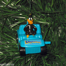 Daffy Duck in Blue Car - Custom Christmas Tree Ornament Decoration Looney Tunes