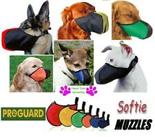 LOT/FULL 6 Piece SET ProGuard SOFTIE DOG MUZZLES*ALL MUZZLE/Breed SIZES Grooming