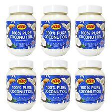 6 x KTC 100% Pure Coconut Oil 500ml, Hair & Skin Moisturiser Edible, Cooking