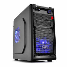 Deepcool Smarter Blue LED Micro ATX Tower Meshed Gaming PC Cube Case 12CM Fans