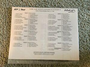 1999 Lipton Championship Tennis Pairing Sheet 3/15