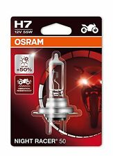 1x OSRAM H7 NIGHT RACER 50 BULB FOR KAWASAKI Z 1000 SX (ZXT00G) 12.10 - 12.13