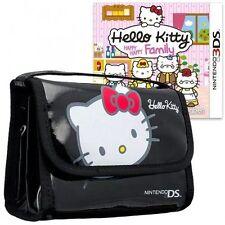 Hello Kitty Happy Happy Family + Black Carry Bag Nintendo 3DS New & Sealed