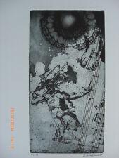 Dos Santos Original grabados Winterreise Franz Shubert Music X 11 impresiones 1985