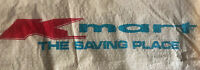 "Vintage Kmart Saving Place plastic shopping bag Clean  24"" x 15.5"" collectible"