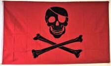 3x5 Pirate Red Blood Patch FLAG 5' x 3' Skull Skeleton Bones Halloween