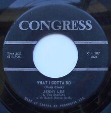JENNY LEE & THE STARLETS What I gotta do CANADA 1962 SOUL GIRLS DOO WOP GROUP 45