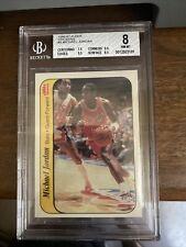 1986 Fleer Basketball #8 Michael Jordan Sticker Rookie Card RC BGS 8 NM-MT