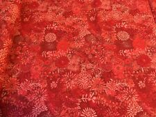 Forest Floral  Red quilters cotton Fabric per yd  by Studio