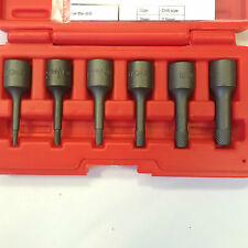 "6Pc 3/8"" Powerful Extractor Remover Set Broken Damaged Nut Bolt Removal Tool"