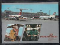 DDR Ak Flughafen Berlin Schönefeld, Flughafen, Interflug, Stewardess, Piloten