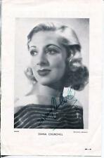 DIANA CHURCHILL ACTRESS IN SCOTT OF ANTARCTIC SIGNED PHOTO PAGE AUTOGRAPH