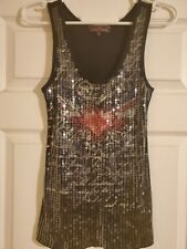 Almost Famous Womens Sequin Tank Large
