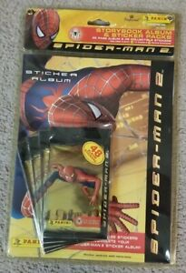 Panini Spider-Man 2 Storybook Album & Sticker Packs 48 Collectible 32 Page NEW