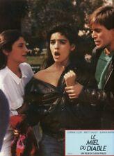 SEXY CORINNE CLERY LUCIO FULCI IL MIELE DEL DIAVOLO 1986  VINTAGE LOBBY CARD #1