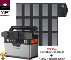 GENERADOR ESTACIÓN DE ENERGIA 78000 mAh PORTATIL SOLAR 220V 300-500W. DE ESPAÑA
