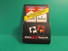 "Two Unopened Sealed Decks Of Marlboro ""Wild West"" Playing Cards - 1991"