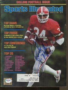 Herschel Walker Signed 1981 Sports Illustrated Autographed UGA PSA/DNA AJ55337