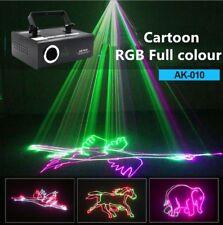 PRO Stage Light 3D Cartoon Animation RGB Full Color ILDA DMX Laser sound Active