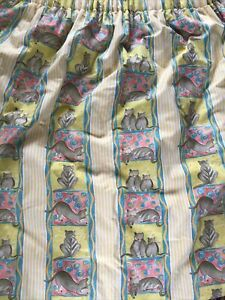 Vintage Designer's Guild Pussy Cat Pussy Cat Heavy Interlined Curtains