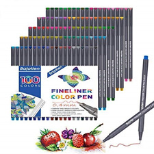 Fineliners Colored Pens, Set of 100 Fine Point Journal Planner Pens for Sketch