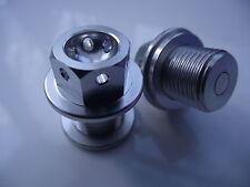 "Magnetic CNC silver sump plug Oil Drain Bolt ""Lockwire drilled"" M14x1.25 suzuki"