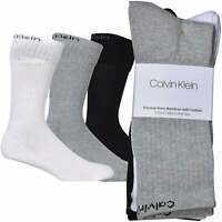 Calvin Klein 3-Pack Bamboo Cotton Sports Socks, White One Size