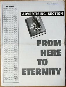 FROM HERE TO ETERNITY, Burt Lancaster, Montgomery Clift, 1953, Pressbook 677