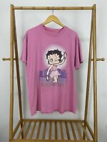 RARE VTG Betty Boop Sex And The City Pink Short Sleeve T-Shirt Size XL