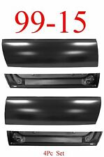 4Pc 99 15 L&R Outer & Inner Front Door Bottom Panels, Ford Super Duty