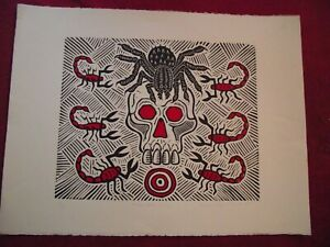 "Richard Mock - Signed Ltd. Edit. Linocut - ""Confrontation Zone"" -1991 - No.1/50"