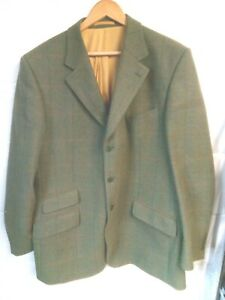 """Alan Paine green tweed jacket 46""""Chest"""
