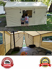 6 Person Ozark Trail 12x10 Wall Tent North Fork Outfitter with Stove Jack New