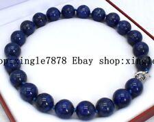 "New 18mm Egyptian Lapis Lazuli Dark Blue Round Bead Gemstones necklace 20 ""AAA"
